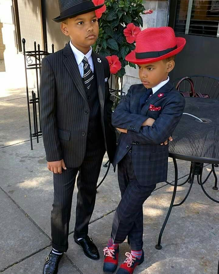 Little boys in suits #Swag