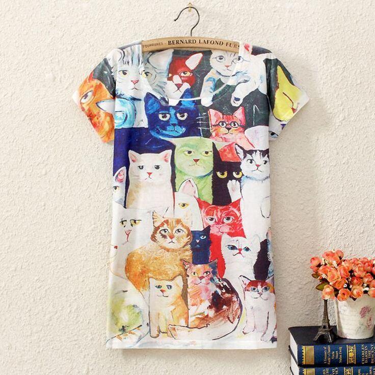 2017 Brand New Polyester T-Shirt Women Short Sleeve t-shirts o-neck Causal loose print t shirt Summer tops for women