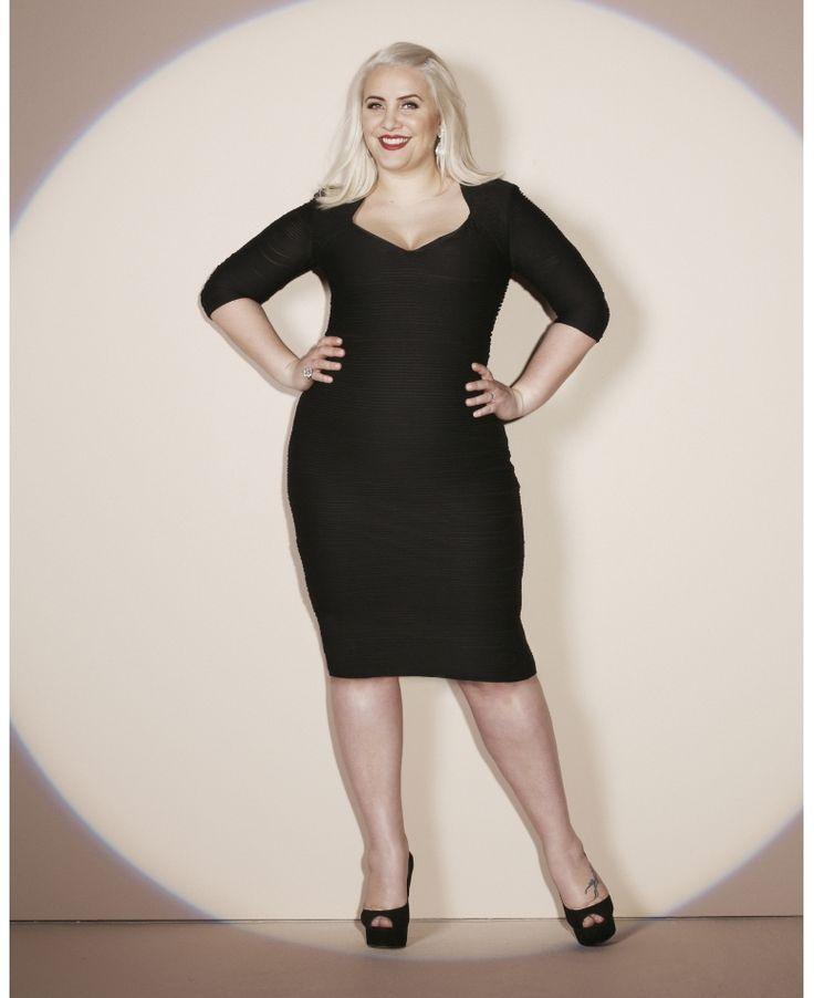Black dress for girl effect