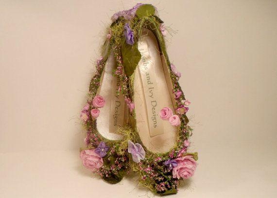Ces fées bois chaussures peuvent être faites dans des couleurs personnalisées à la suite, il suffit de demander ! Ceux-ci sont remplis de