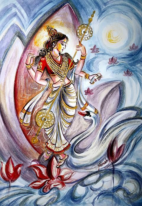 Saraswati! The Goddess of Wisdom, music and Intellect!