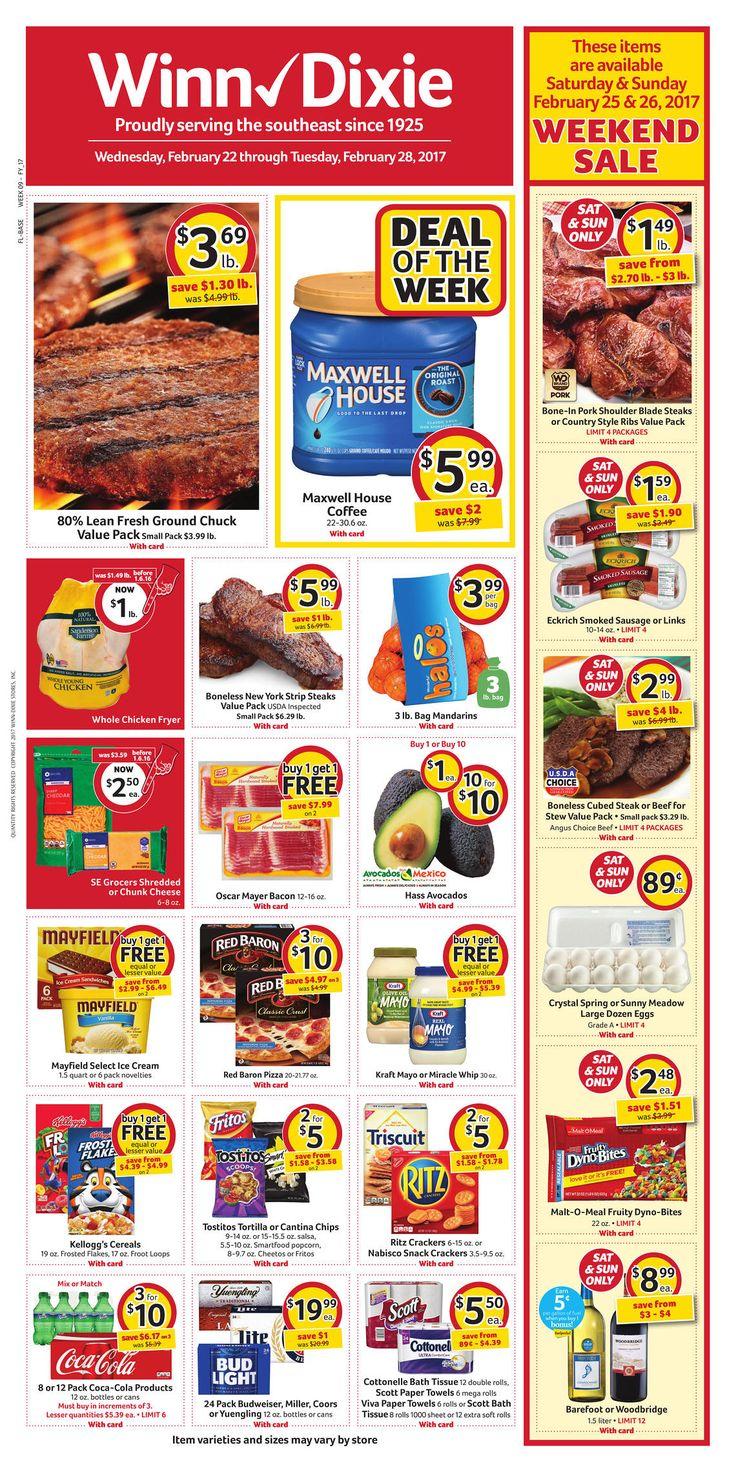 Winn Dixie Weekly Ad February 22 - 28, 2017 - http://www.olcatalog.com/grocery/winn-dixie-weekly-ad.html