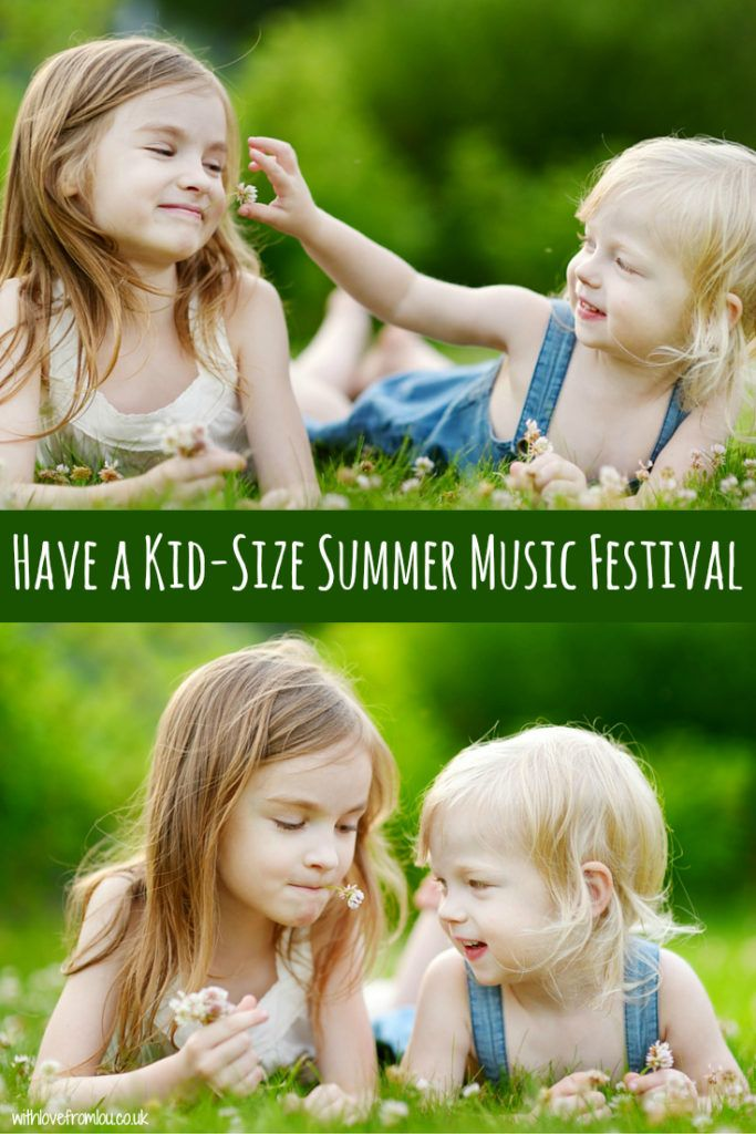 My top tips for having a kid-size summer music festival in your back yard! Click here to find out more: http://withlovefromlou.co.uk/2016/05/kid-size-summer-music-festival/