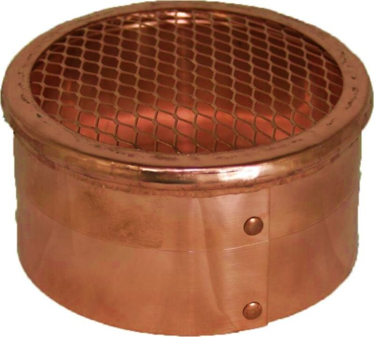 Copper 4 Inch Round Eave or Soffit Vent Cover. http://www.luxurymetals.com/copper_eave_vent.html