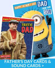 Father's Day Sound Cards available with Free 1st Class UK Delivery for range of great TV, Film and Sports  Brands at https://www.danilo.com/Shop/Cards-and-Wrap/Seasonal-cards