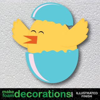 Spring Chickie in the Egg Foam Decoration