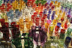 Moroccan tea glasses (a n j a) Tags: glass glasses colours tea northafrica morocco repetition marrakech souk colourful glas moroccan repeat theeglas