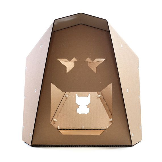 Origami Cardboard Cat House Cat Toy Cat Cave Cat Bed от CacaoPets