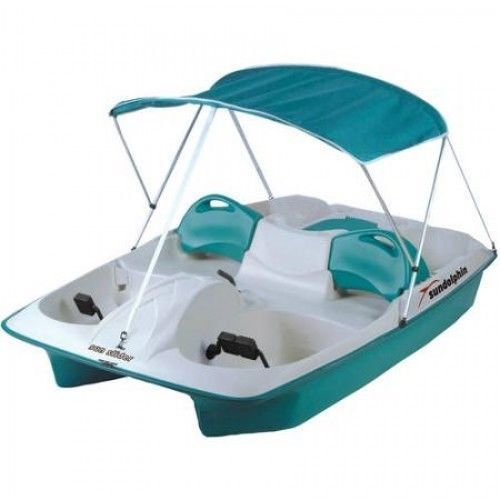 5 Person Sun Slider Pedal Boat Canopy Cooler Storage Lake Boating Fishing Water #SunDolphin