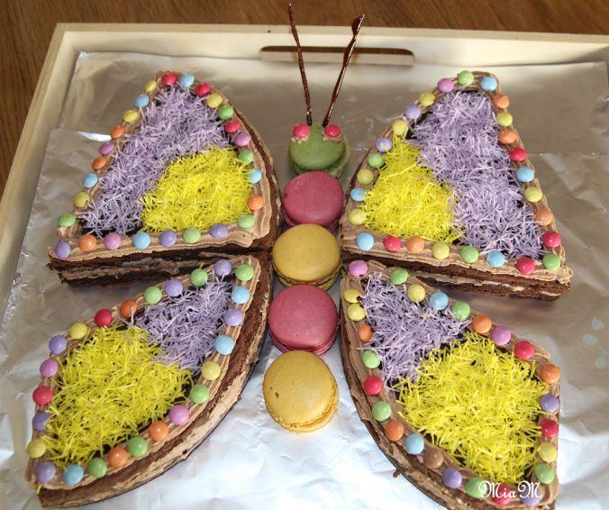 gâteau d'anniversaire en papillon