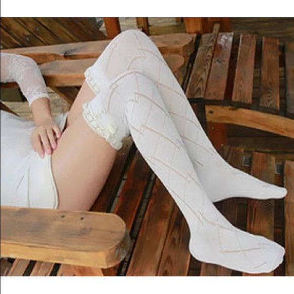 2 Pairs of Knee High Boot Socks w/Beige Lace Trim This listing is for 2 Pairs of Sexy Knee High Boot Socks with Beige Lace! Made from soft, breathable materials, these socks are a must have to your wardrobe. Available Colors: Black, Dark Gray, Light Gray, Cream, Pink and Aqua. Give your ordinary outfit that extra something with a pair of these socks! Please leave me a comment with the colors you would like before or after payment is made. Accessories Hosiery & Socks