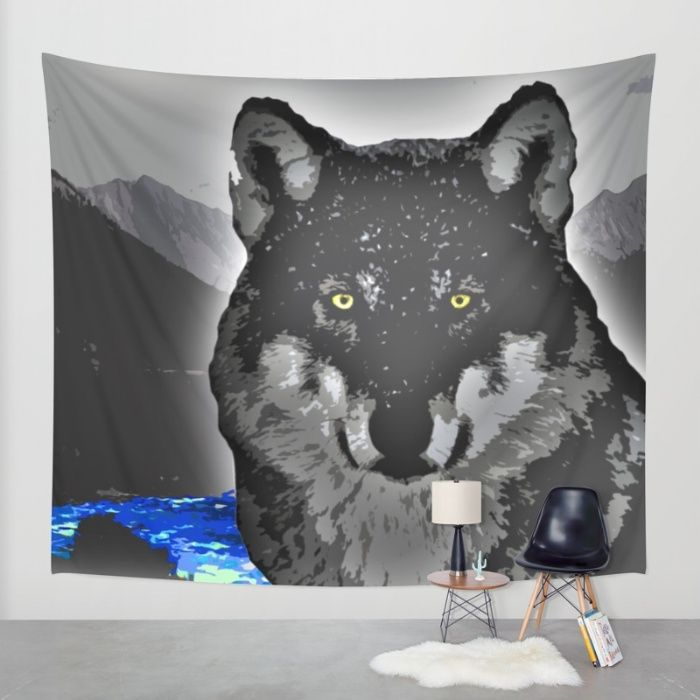 Buy Wolf Wall Tapestry by Animilustration. Worldwide shipping available at Society6.com. Just one of millions of high quality products available.