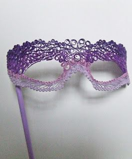 Week Thirty-Six: Quilled Purple Ombre Mask