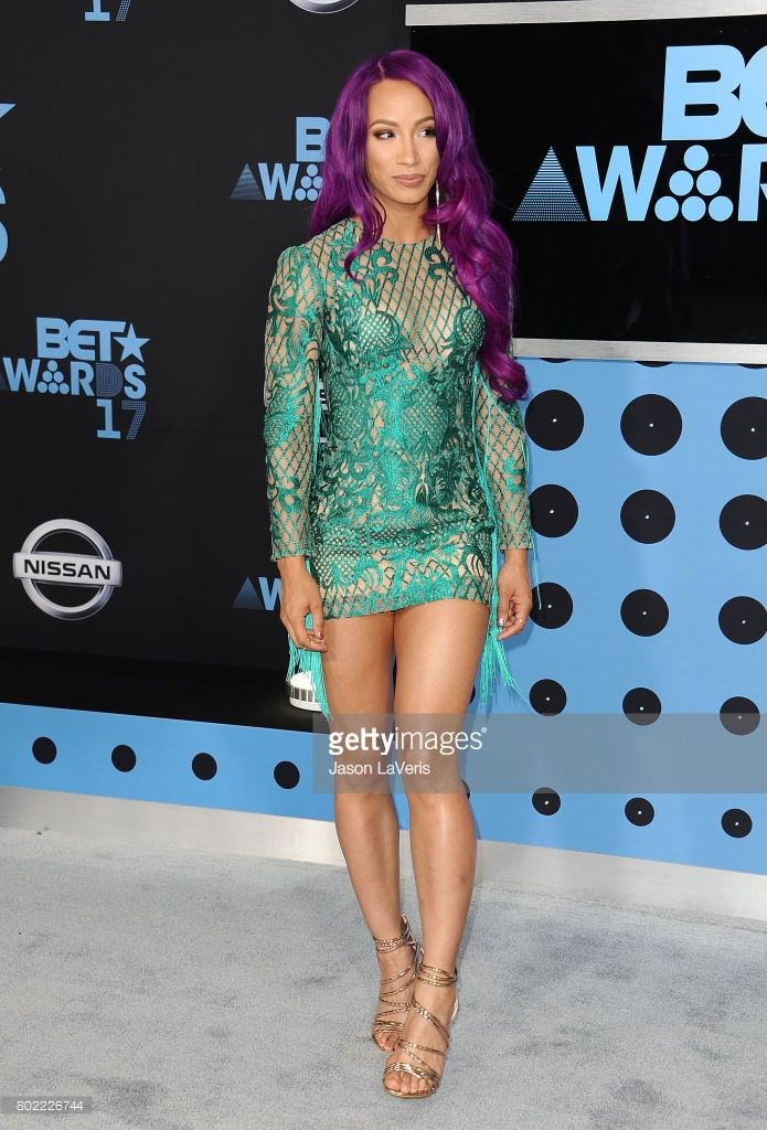 Wrestler Sasha Banks attends the 2017 BET Awards at Microsoft Theater on June 25, 2017 in Los Angeles, California.