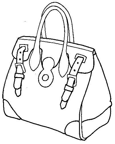 coloring pages of purses - photo#21