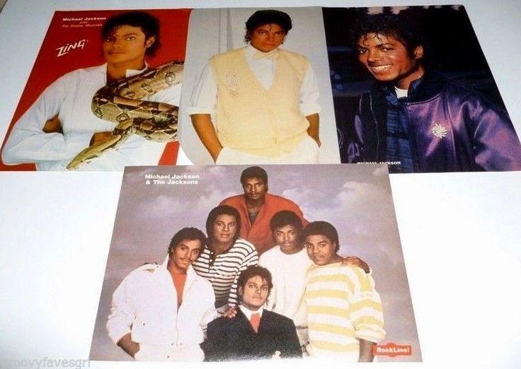Michael Jackson 5 70's-80's Rockin Robin Thriller Moonwalk Dance Moves Magazine Vintage Clippings #Thriller#Michael Jackson