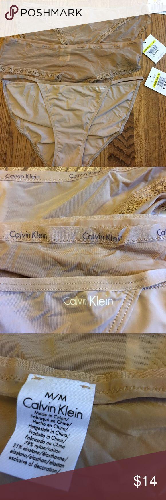 Calvin Klein lot of 3 bikini panties NUDE sz m Lot of 3 bikini panties Calvin Klein Intimates & Sleepwear Panties