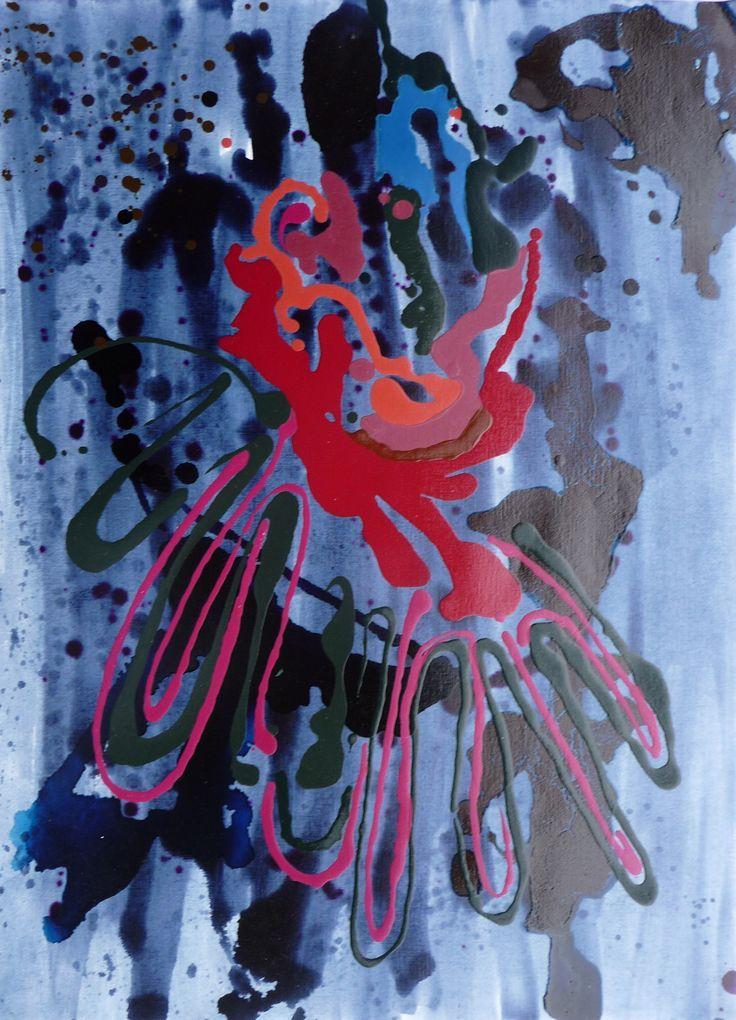 Viaggio XXIV Oil on Paper 90 x 60cm