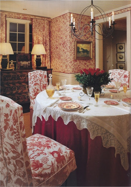 Warm And Cozy Dining Room Moodboard: Antiques, Toile Bedding And French Country Bedrooms