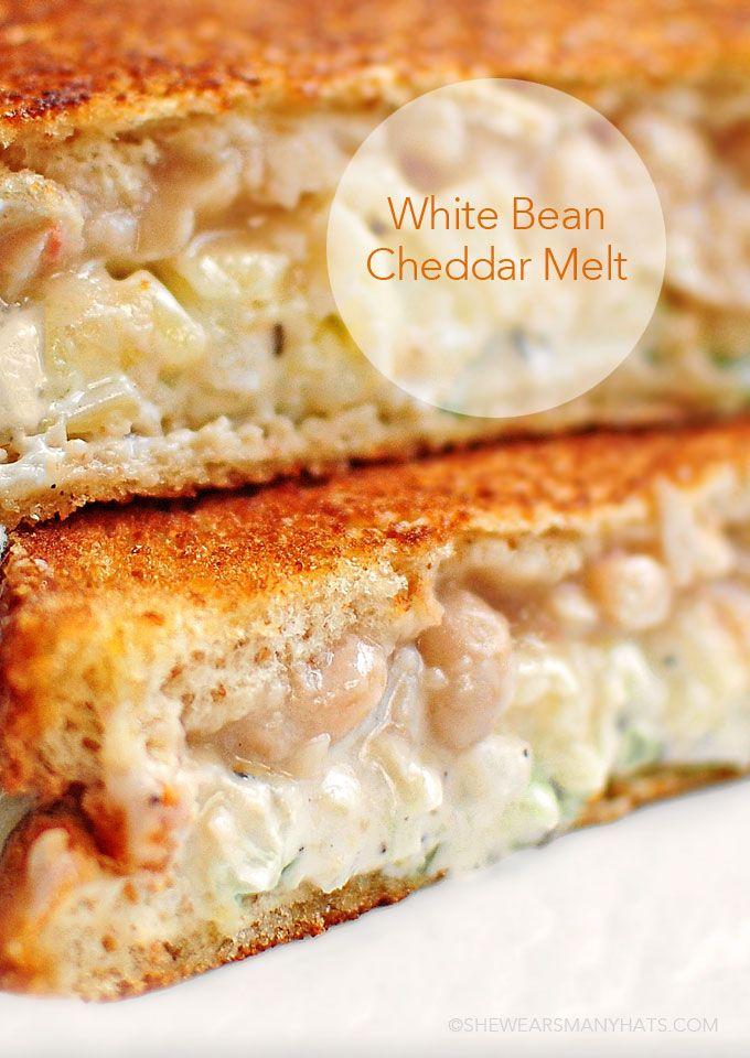 White Bean Cheddar Melt Recipe - @Amy Johnson / She Wears Many Hats