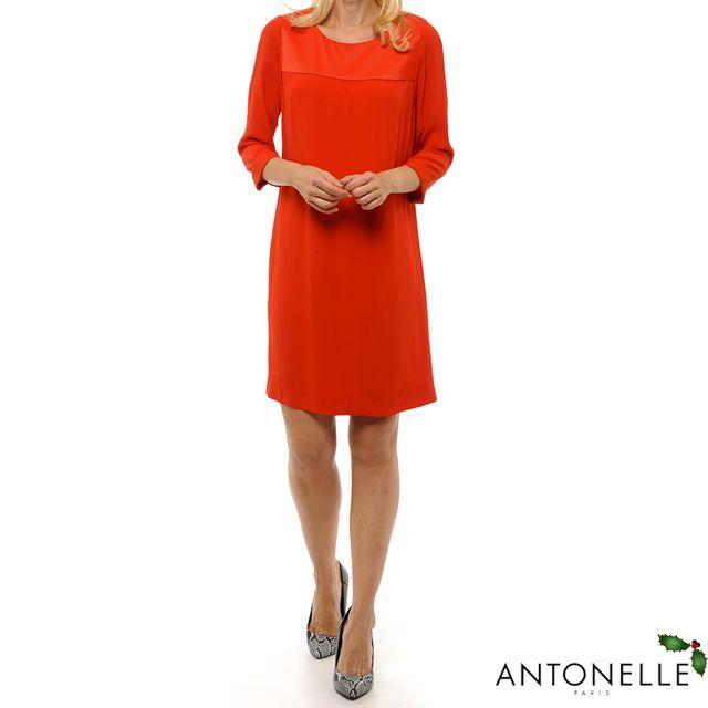 Ce soir pour le réveillon, osez le rouge !    #Antonelleparis #rouge #robe #hiver #trend #classic #chic #clothing #lookoftheday  #lookbook #womenswear #antonelle #paris