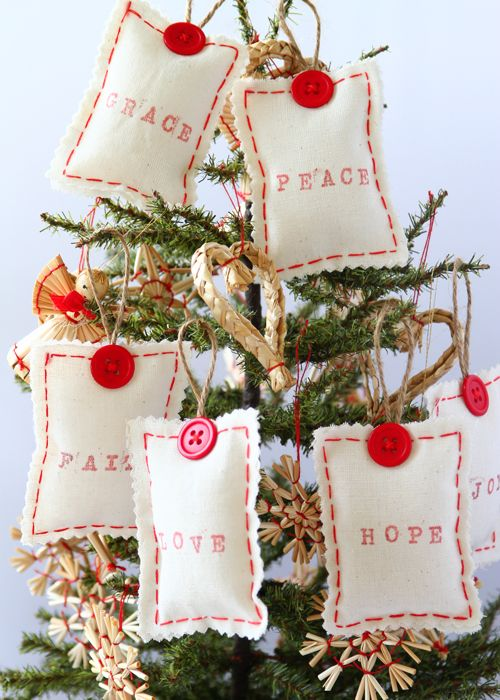 Joyful Message Sachet Ornaments - Amidst the reverlry and festivity of the season, let's not forget the real meaning and message of the season.