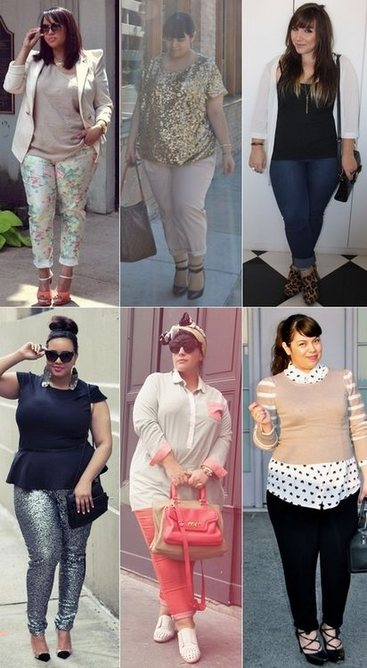 Plus size fashion love those sparkly skinnies To only be as confident in myself as these women are...