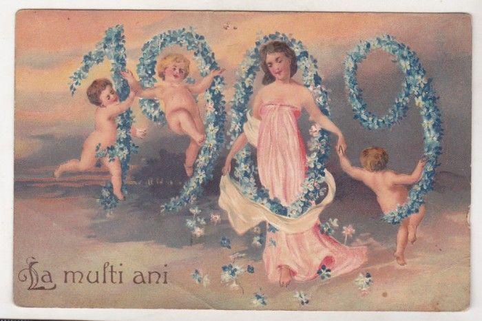 bnk cp Romania Felicitare circulata 1909 foto mare