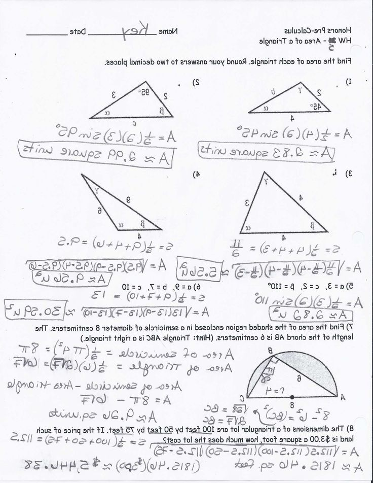 Right Triangle Trigonometry Worksheet 9 Law Sines Practice