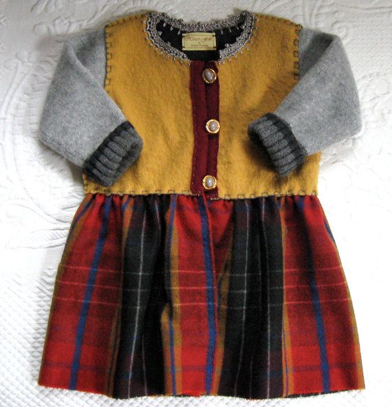 Toddler Wool Dress / Coat  ANTONIA  made from by heartfeltbaby, $80.00