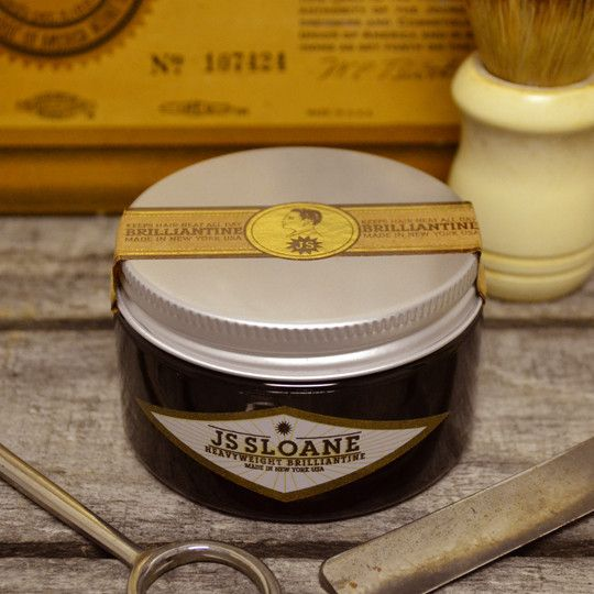 JS Sloane Heavyweight Brilliantine Pomade - Water Based Hair Pomade – Pomade.com - One Stop Pomade Shop