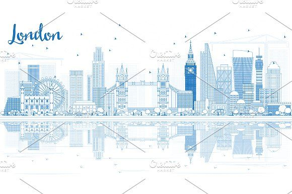 #Outline #London #Skyline by Igor Sorokin on @creativemarket