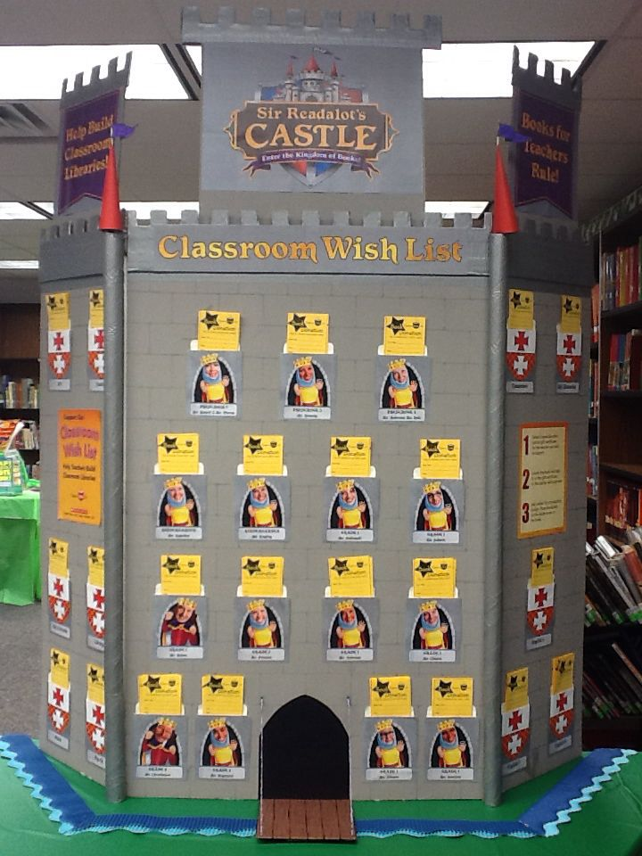 Fall Decorating Ideas For Classroom ~ Scholastic book fair sir readalot s castle wall