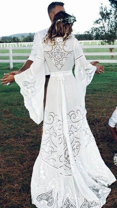 White Lace Maxi Dress                                                                             Source
