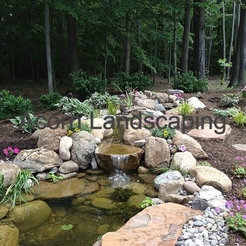 Amazing Backyard Waterfall Fish Pond With Paver Patio Transformation Greece  NY By Acorn Landscaping, Rochester