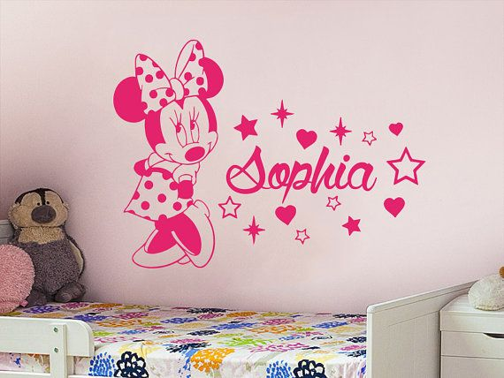 25 unique minnie mouse stickers ideas on pinterest minnie mouse party minnie mouse birthday - Baby slaapkamer deco ...