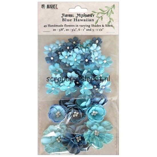 49 and Market Floral Mixology Paper Flowers - Blue Hawaiian