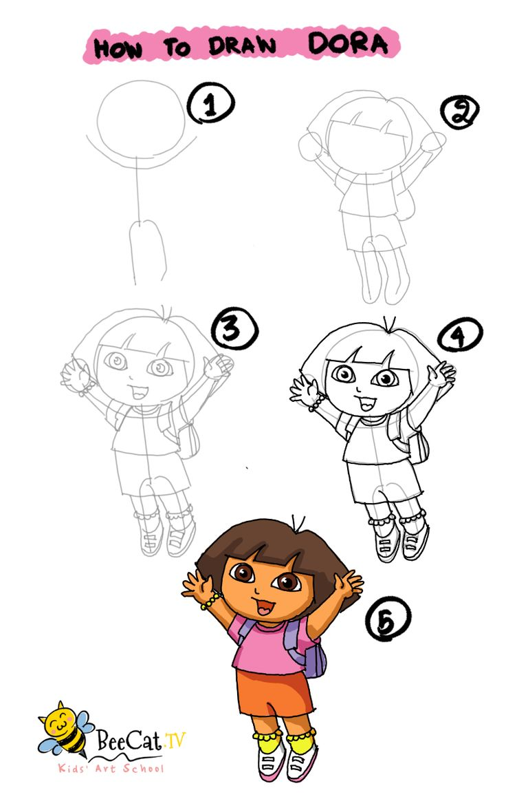 Uncategorized How To Draw Dora Step By Step 13 best poster images on pinterest drawings doodles how to draw dora