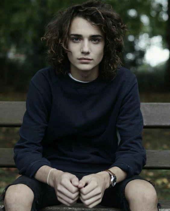 #malemodel Long Curly Hair Men (With