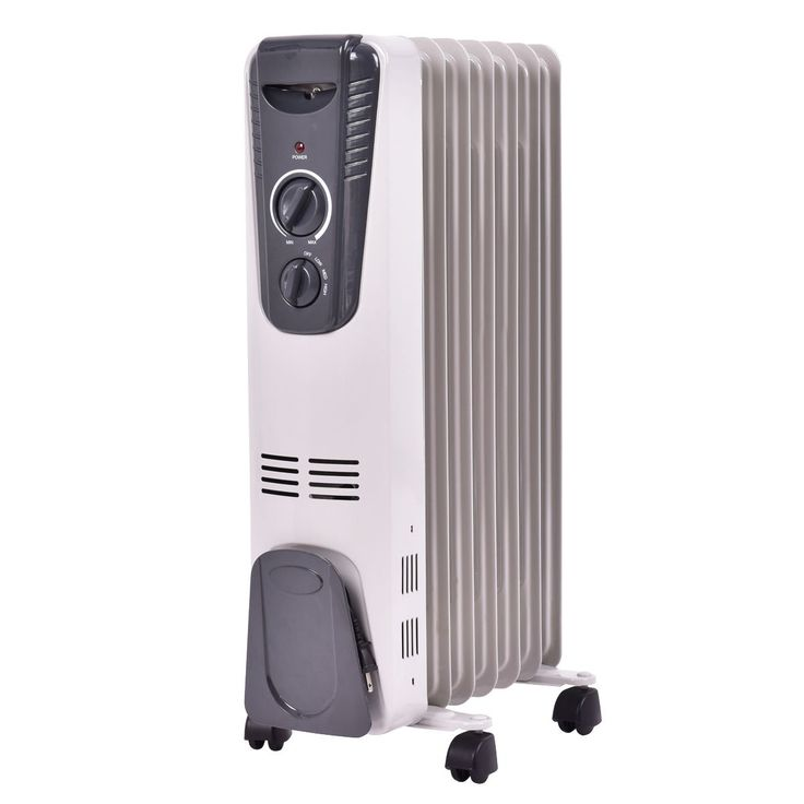 Tangkula Electric Oil Filled Radiator Heater Portable Home Room Radiant Heat 5.7 Fin Thermostat 1500w