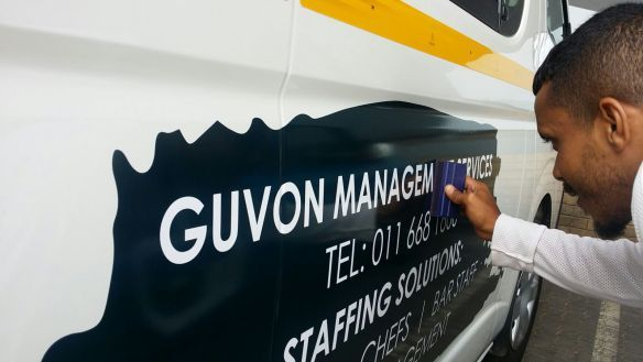 Guvon Management Services staff vehicle keep the taxi bosses at bay