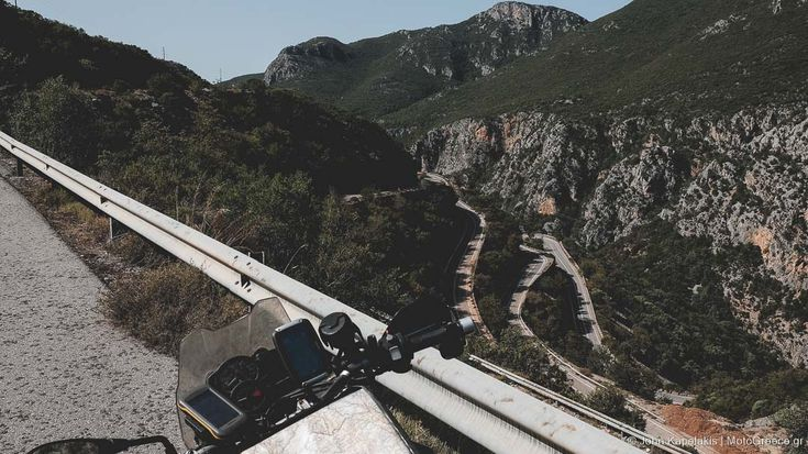 west ramp of Taigetos mountain pass road