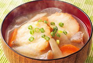 仙台麩と根菜のみそ汁