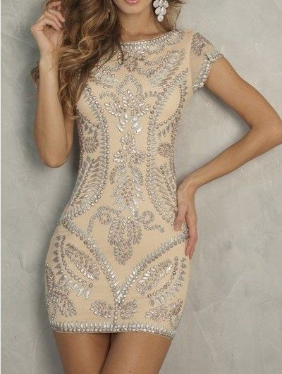 Sexy Fashion Homecoming Dress, Short Mini Prom Dress,Lace Cocktail Dress, Beaded Form-Fitting Homecoming Dress