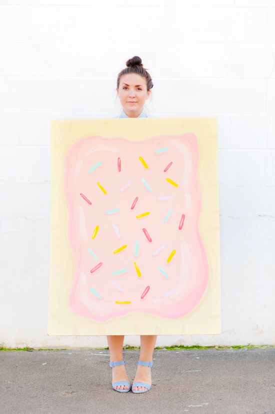 Budget Friendly Costume Idea: Giant $5 DIY Pop Tart Costume for Halloween - Paper and StitchPaper and Stitch