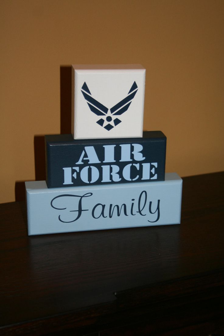 AIR FORCE Blocks--this would be a great gift for my brother and sister-in-law :)