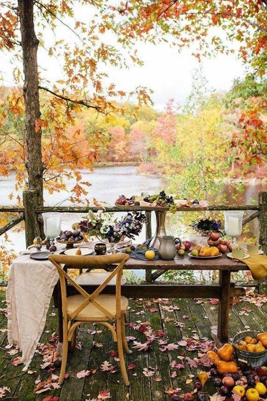 lovely fall alfresco
