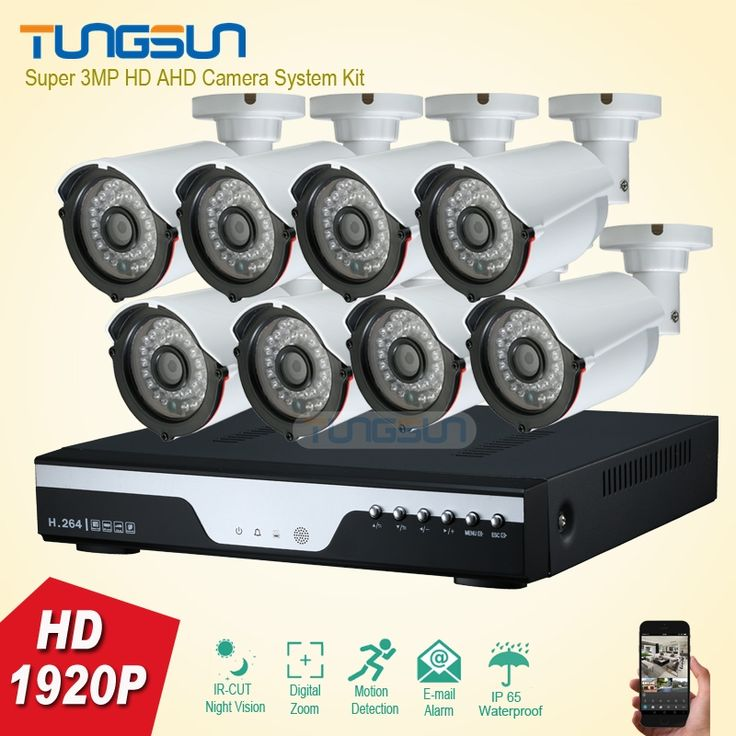 (391.79$)  Watch more here - http://aisid.worlditems.win/all/product.php?id=32788905831 - New Super 8 Channel Home HD 3MP Security Camera System AHD 1920P Video Surveillance infrared Bullet White 8CH DVR CCTV kit