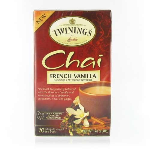 Twinings French Vanilla Chai - 20 Teabags - so amazingly delicious! And I have had great service from this company too!