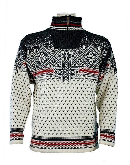Dale of Norway Savalen WS Sweater (Cream / Drk Charcoal / Raspbe
